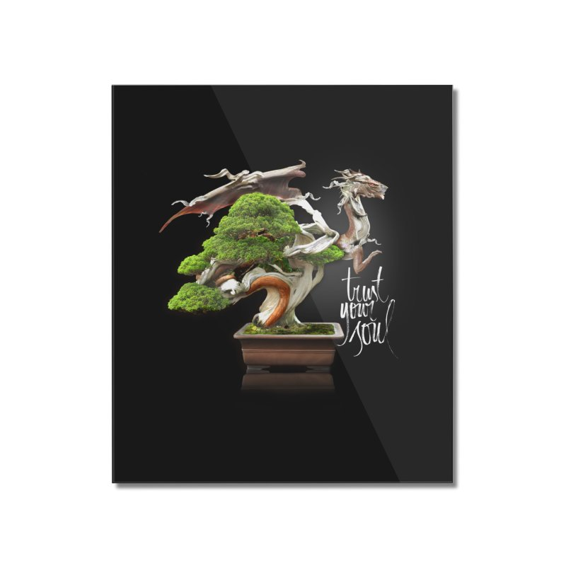Bonsai Dragon Home Mounted Acrylic Print by HappyRonin's Artist Shop