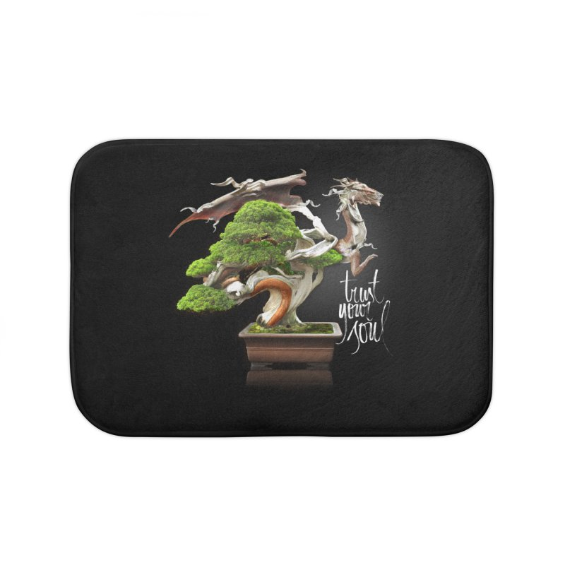 Bonsai Dragon Home Bath Mat by HappyRonin's Artist Shop
