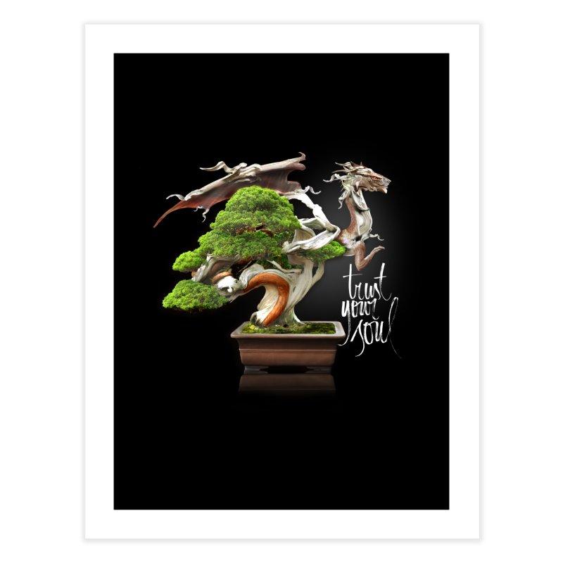 Bonsai Dragon Home Fine Art Print by HappyRonin's Artist Shop