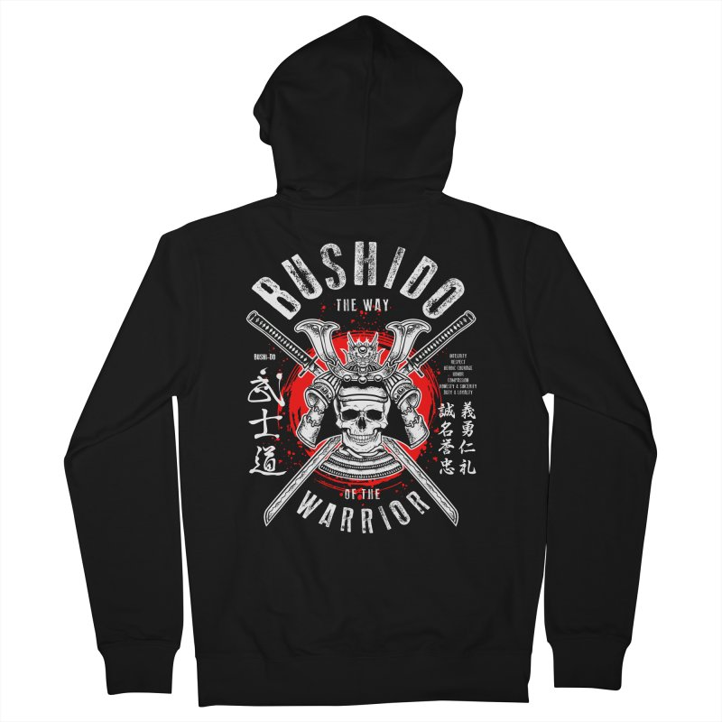 Bushido 1 Men's French Terry Zip-Up Hoody by HappyRonin's Artist Shop
