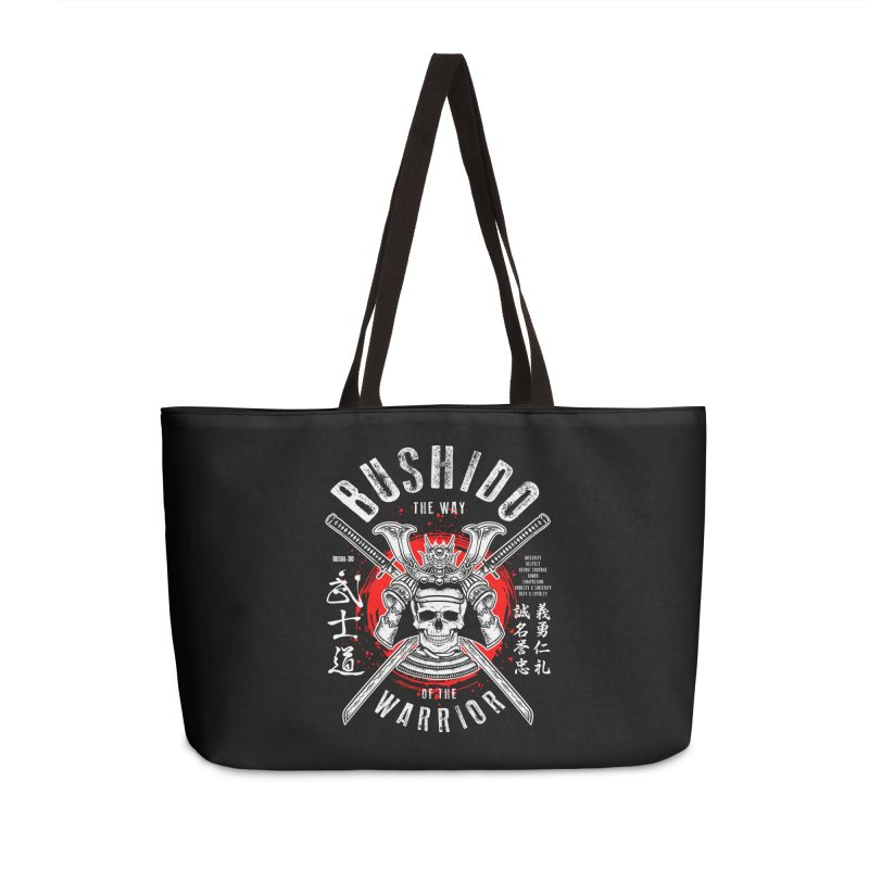Bushido 1 Accessories Weekender Bag Bag by HappyRonin's Artist Shop