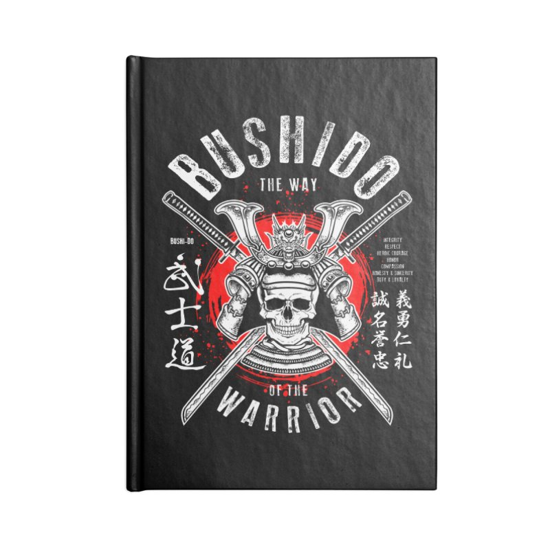Bushido 1 Accessories Lined Journal Notebook by HappyRonin's Artist Shop