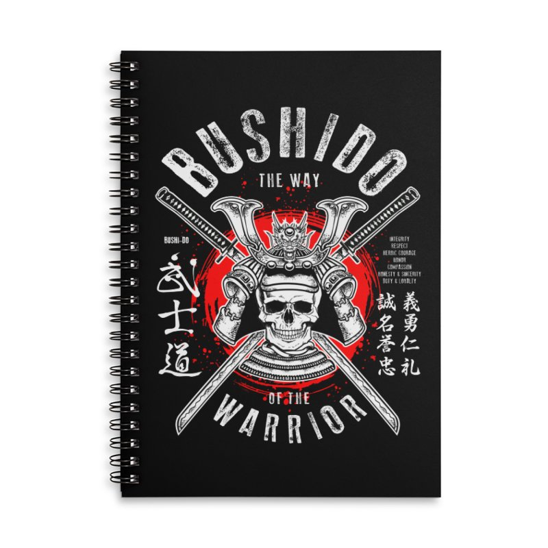Bushido 1 Accessories Lined Spiral Notebook by HappyRonin's Artist Shop