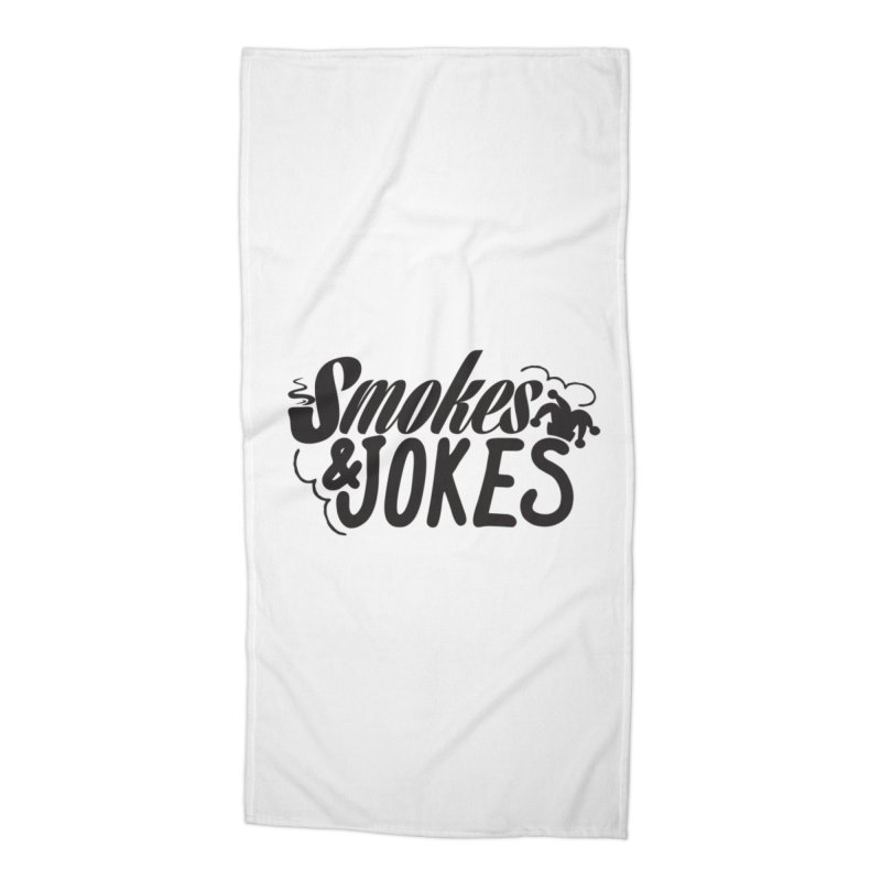 SmokesNJokes Accessories Beach Towel by HarlemRiverYachtClub's Artist Shop