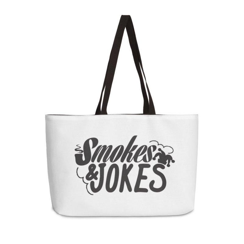 SmokesNJokes Accessories Weekender Bag Bag by HarlemRiverYachtClub's Artist Shop