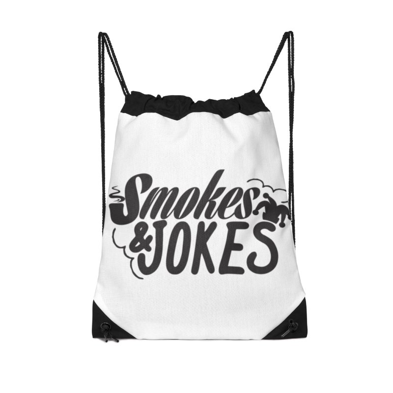 SmokesNJokes Accessories Drawstring Bag Bag by HarlemRiverYachtClub's Artist Shop
