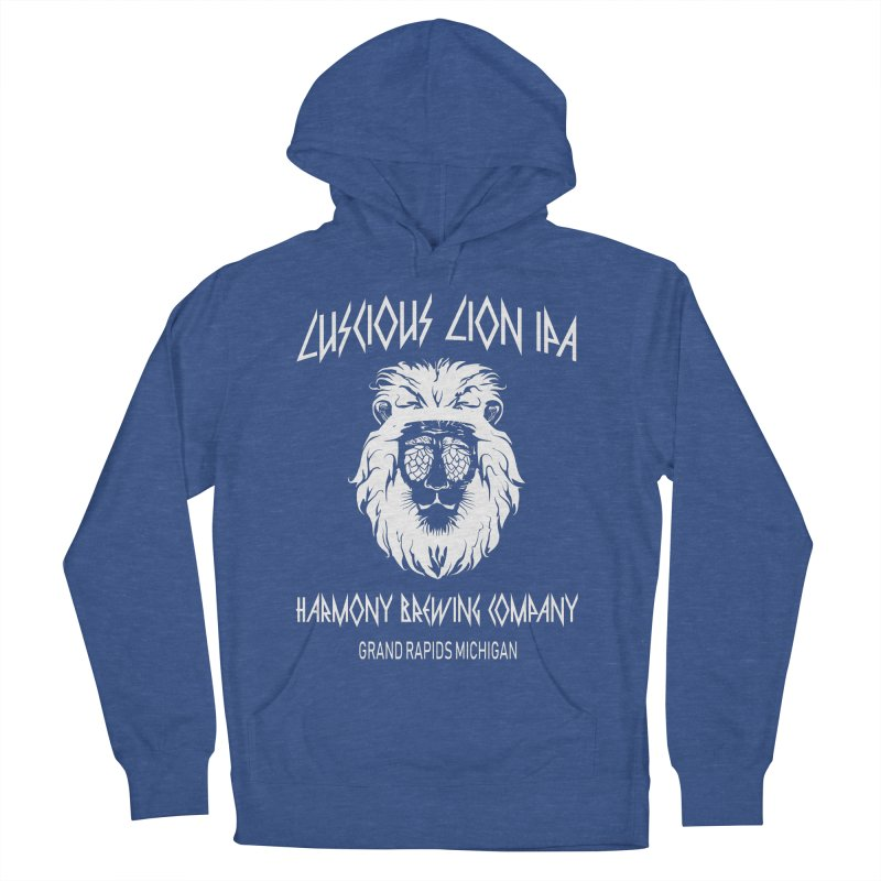 Luscious Lion Men's French Terry Pullover Hoody by Harmony Brewing Company