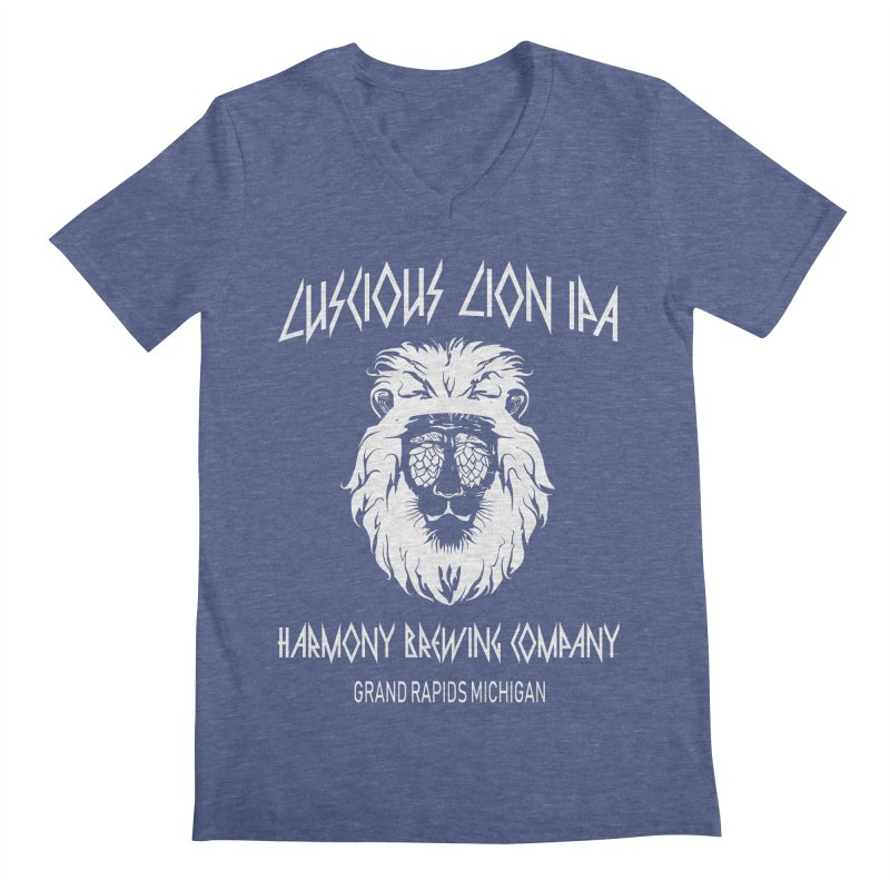 Luscious Lion Men's V-Neck by Harmony Brewing Company