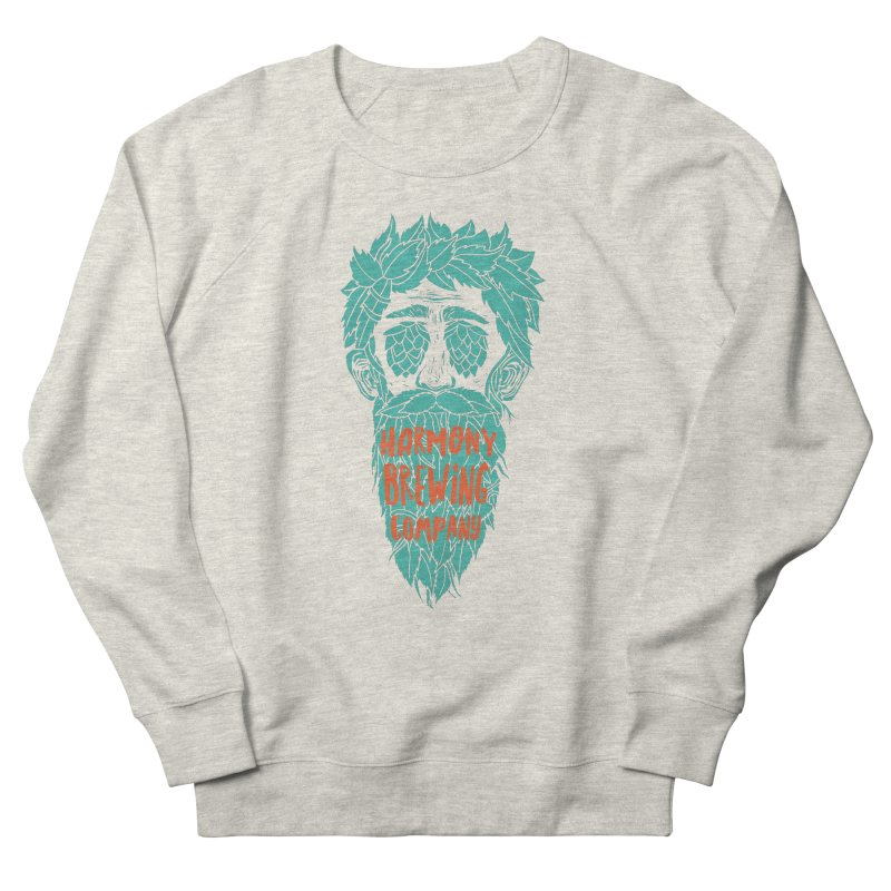 Teal Hopeyed guy Men's French Terry Sweatshirt by Harmony Brewing Company