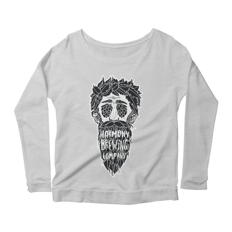 Hop Eyed Guy Women's Scoop Neck Longsleeve T-Shirt by Harmony Brewing Company