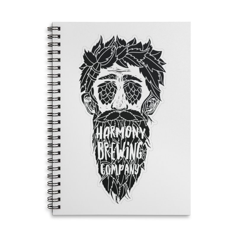 Hop Eyed Guy Accessories Lined Spiral Notebook by Harmony Brewing Company