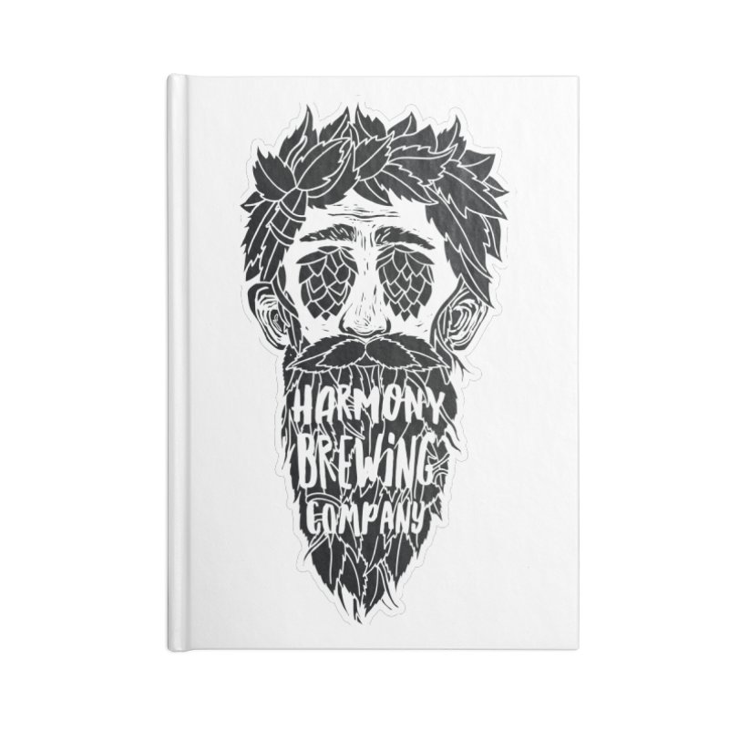 Hop Eyed Guy Accessories Lined Journal Notebook by Harmony Brewing Company