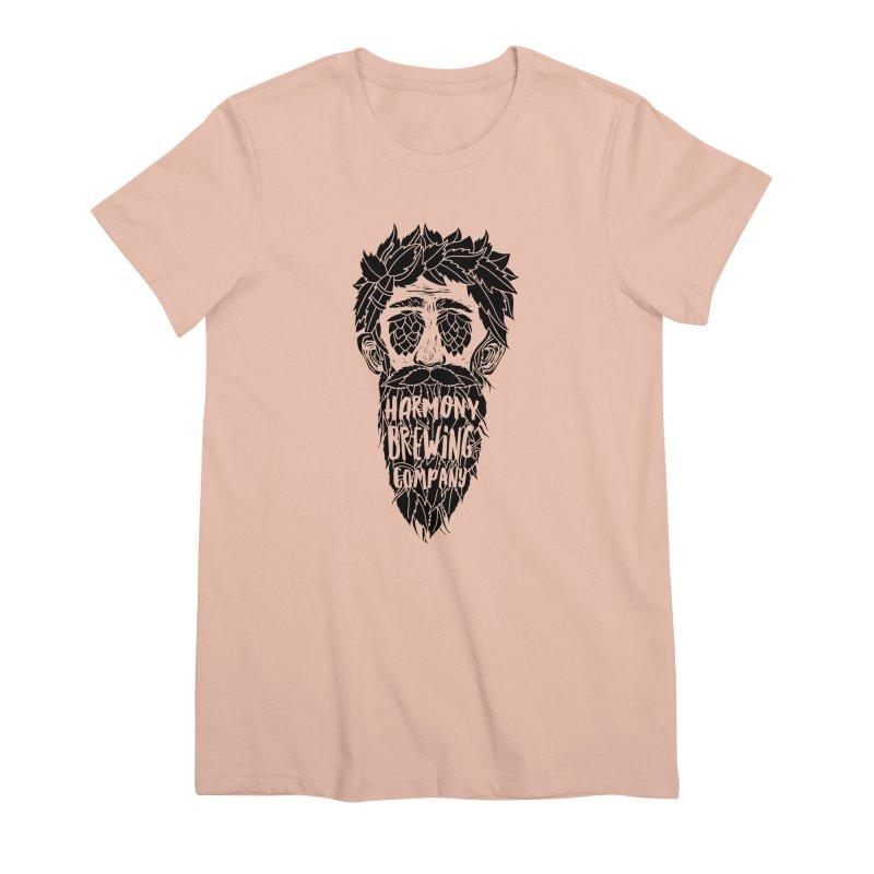 Hop Eyed Guy Women's Premium T-Shirt by Harmony Brewing Company