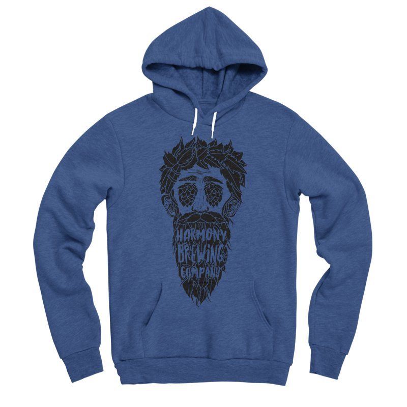 Hop Eyed Guy Men's Sponge Fleece Pullover Hoody by Harmony Brewing Company