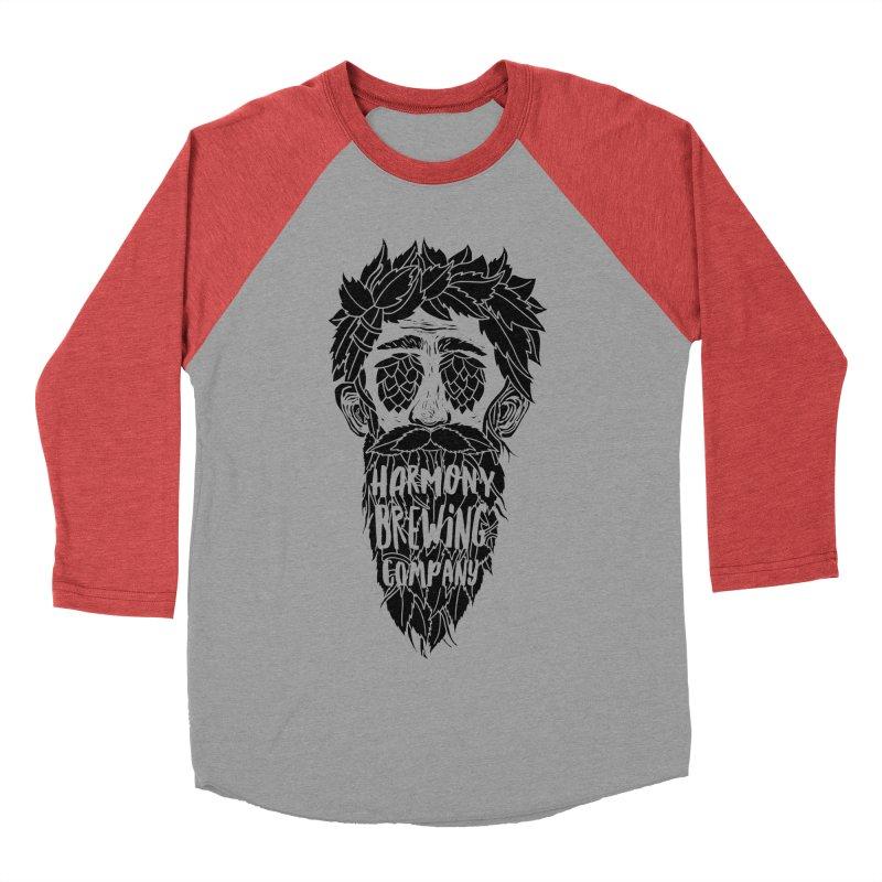 Hop Eyed Guy Men's Baseball Triblend Longsleeve T-Shirt by Harmony Brewing Company