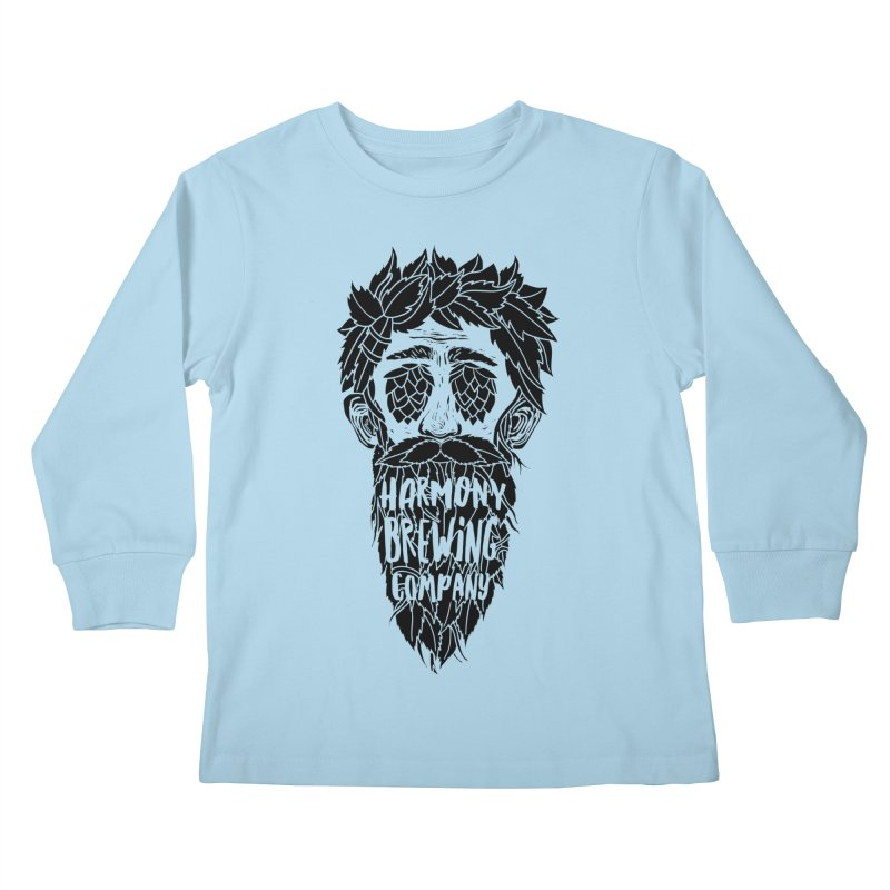 Hop Eyed Guy Kids Longsleeve T-Shirt by Harmony Brewing Company