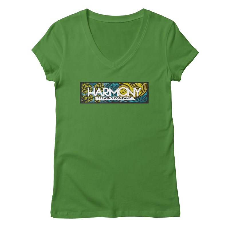 Seeking Harmony Women's Regular V-Neck by Harmony Brewing Company
