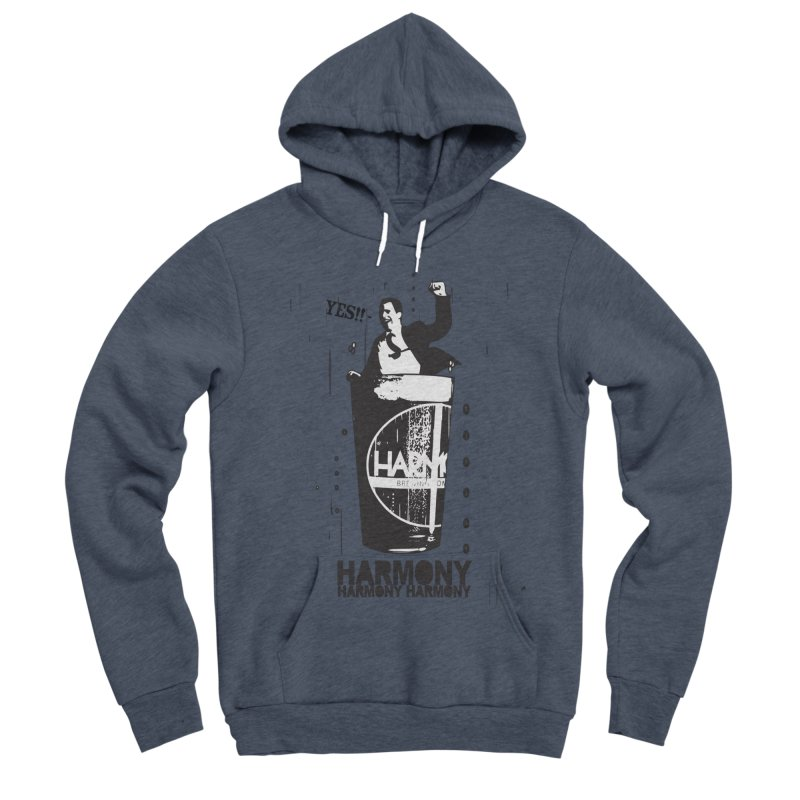 YES! Men's Sponge Fleece Pullover Hoody by Harmony Brewing Company