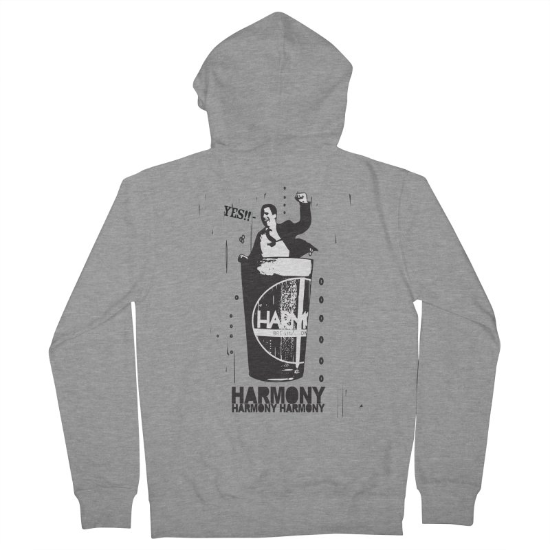 YES! Men's French Terry Zip-Up Hoody by Harmony Brewing Company