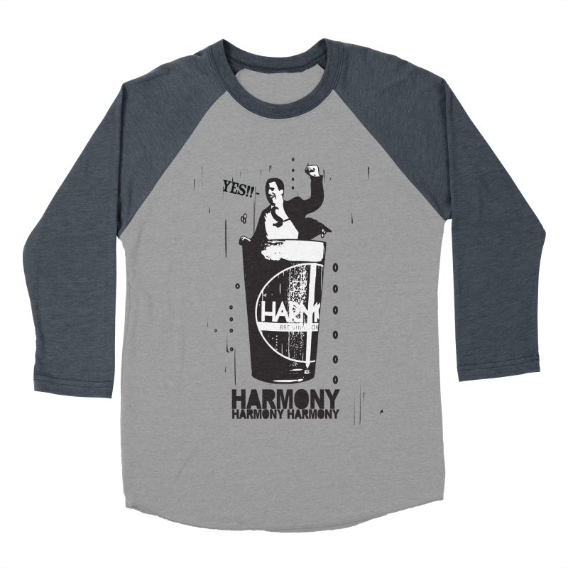 YES! Men's Baseball Triblend Longsleeve T-Shirt by Harmony Brewing Company