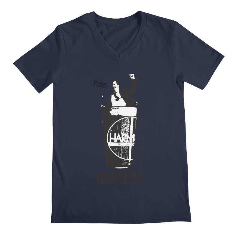 YES! Men's V-Neck by Harmony Brewing Company