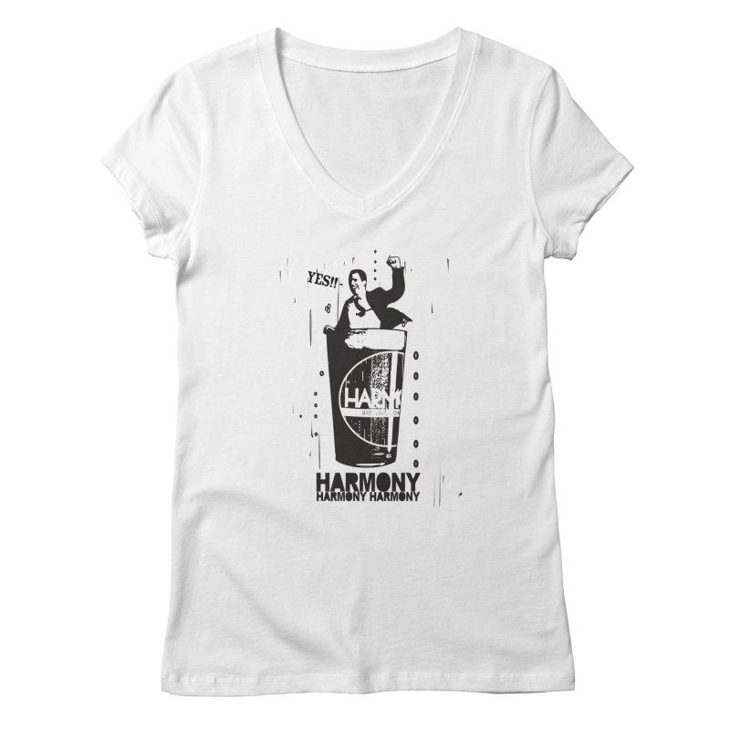 YES! Women's V-Neck by Harmony Brewing Company