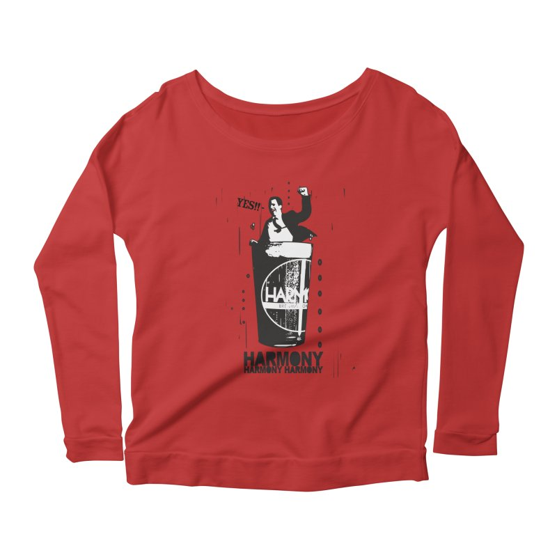 YES! Women's Scoop Neck Longsleeve T-Shirt by Harmony Brewing Company