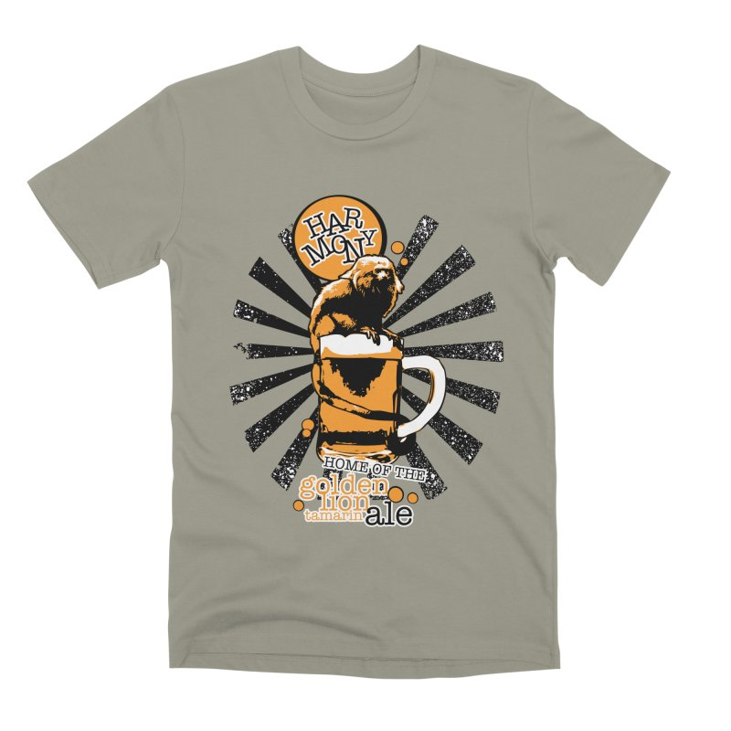 Golden Lion Tamarin Men's Premium T-Shirt by Harmony Brewing Company