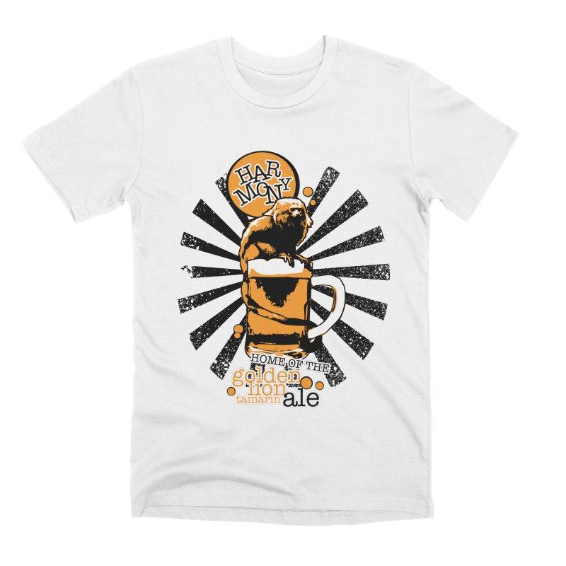 Golden Lion Tamarin Men's Premium T-Shirt by Harmony Brewing Company