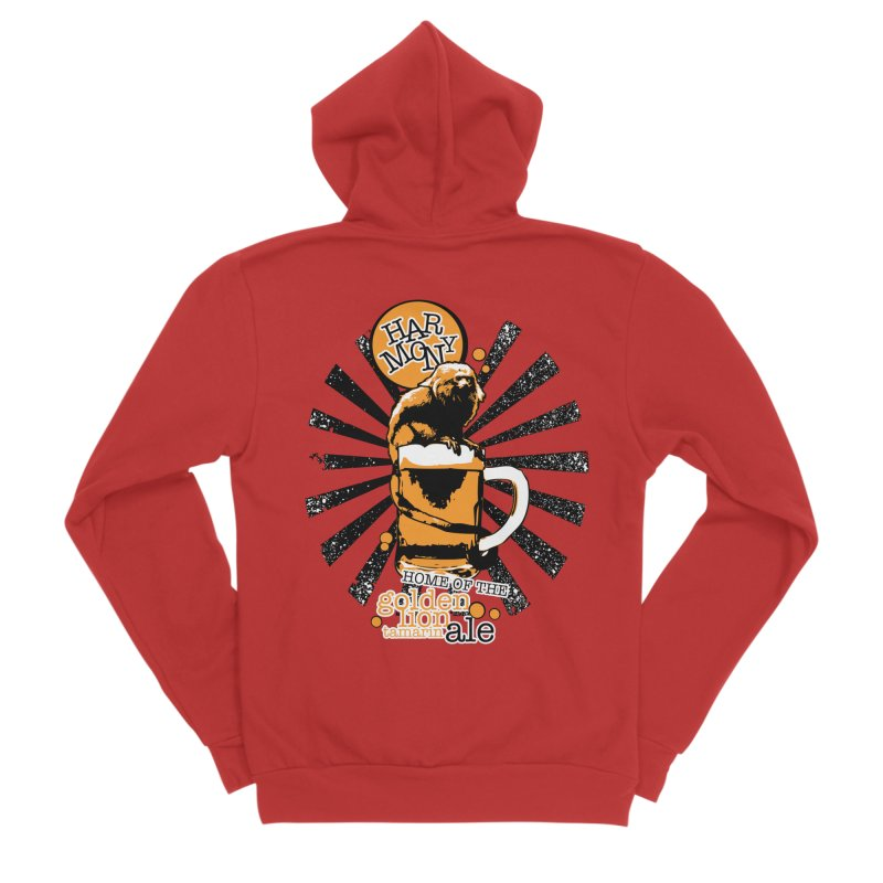 Golden Lion Tamarin Men's Zip-Up Hoody by Harmony Brewing Company