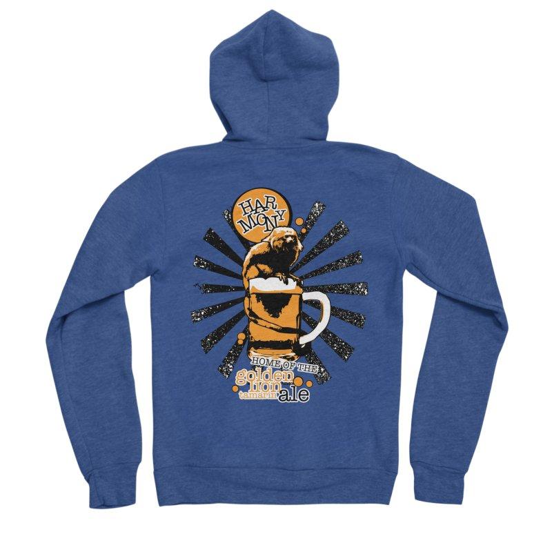 Golden Lion Tamarin Men's Sponge Fleece Zip-Up Hoody by Harmony Brewing Company