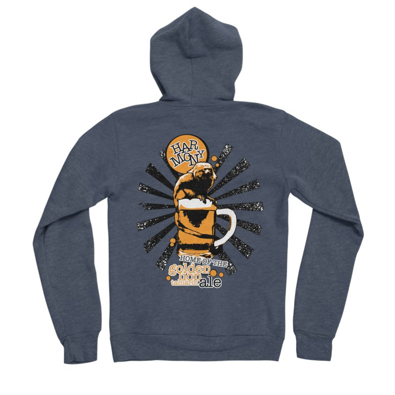 Golden Lion Tamarin Women's Zip-Up Hoody by Harmony Brewing Company