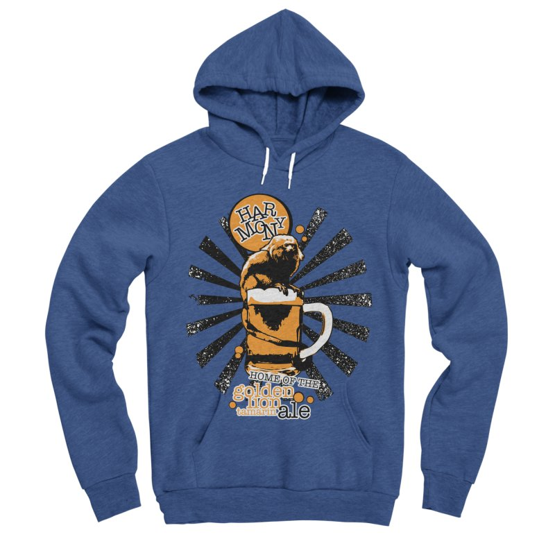 Golden Lion Tamarin Men's Sponge Fleece Pullover Hoody by Harmony Brewing Company
