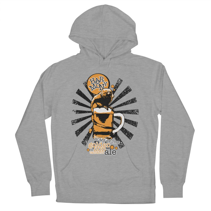Golden Lion Tamarin Men's French Terry Pullover Hoody by Harmony Brewing Company