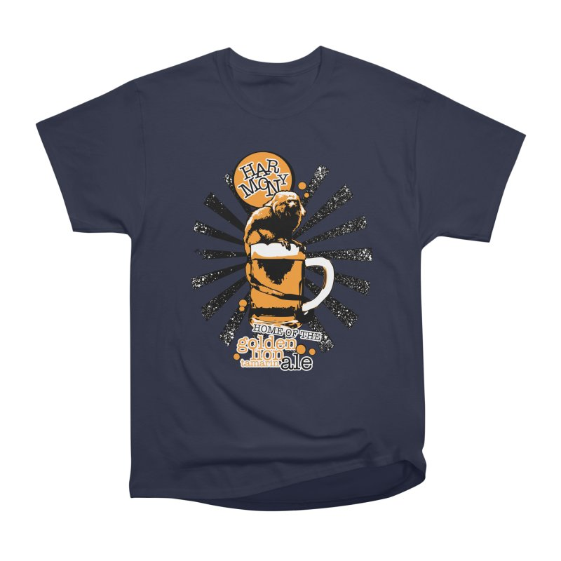 Golden Lion Tamarin Men's Heavyweight T-Shirt by Harmony Brewing Company