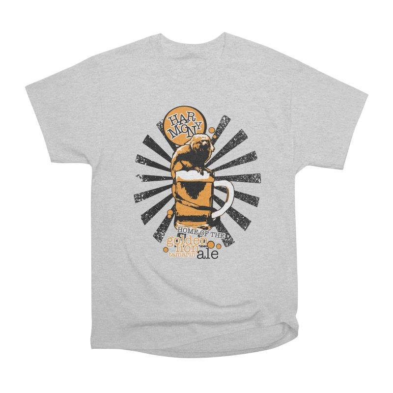 Golden Lion Tamarin Women's Heavyweight Unisex T-Shirt by Harmony Brewing Company