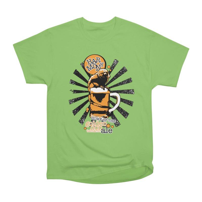 Golden Lion Tamarin Men's Heavyweight T-Shirt by Harmony Brewing Company