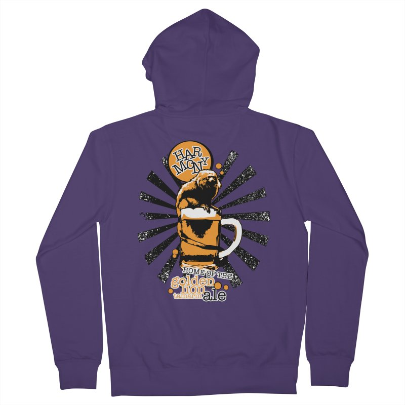 Golden Lion Tamarin Women's French Terry Zip-Up Hoody by Harmony Brewing Company