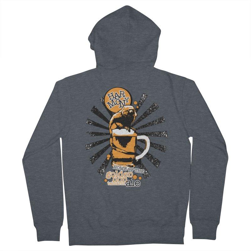 Golden Lion Tamarin Men's Zip-Up Hoody by Harmony Brewing Company