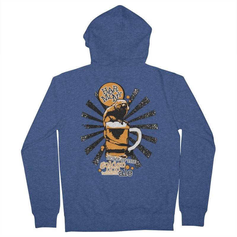 Golden Lion Tamarin Men's French Terry Zip-Up Hoody by Harmony Brewing Company