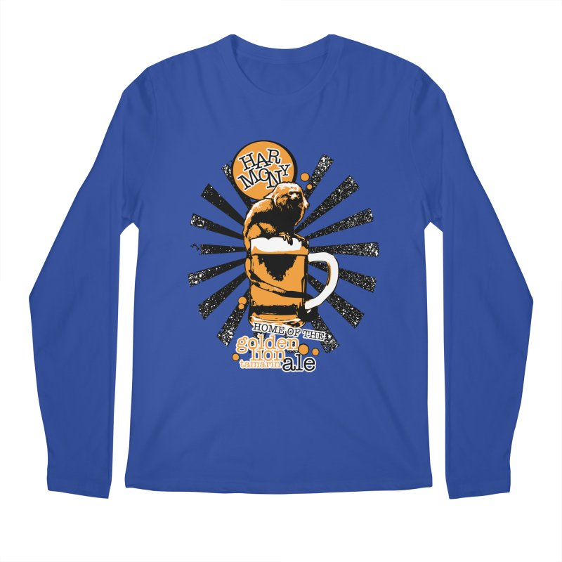 Golden Lion Tamarin Men's Regular Longsleeve T-Shirt by Harmony Brewing Company