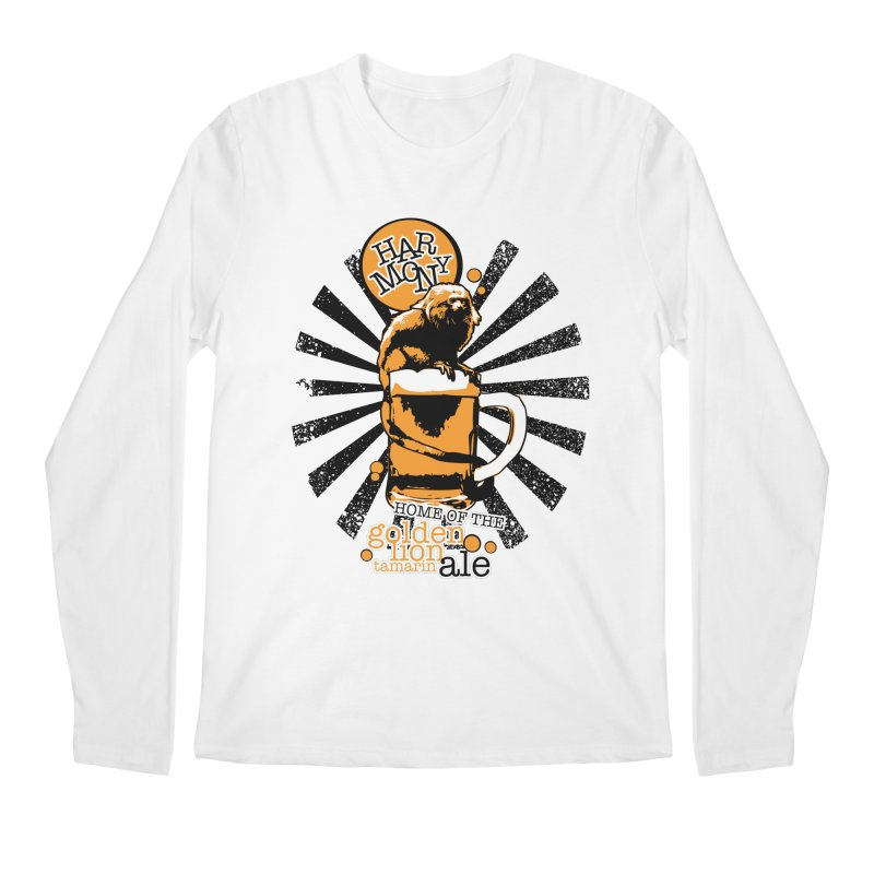 Golden Lion Tamarin Men's Longsleeve T-Shirt by Harmony Brewing Company