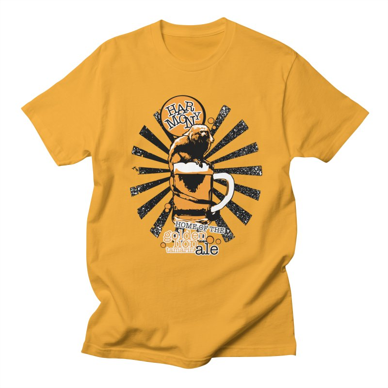Golden Lion Tamarin Men's T-Shirt by Harmony Brewing Company