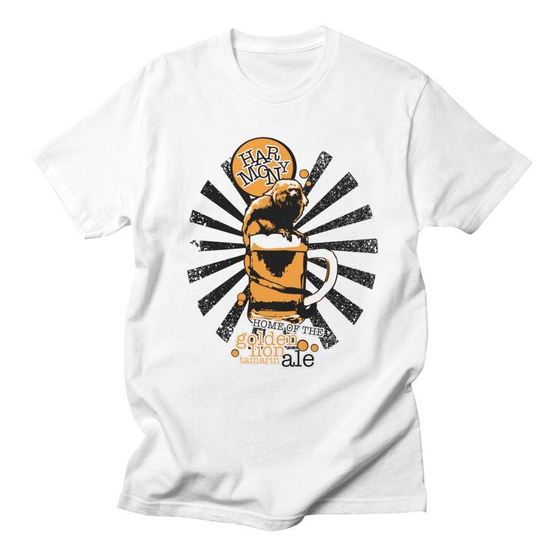Golden Lion Tamarin Men's Regular T-Shirt by Harmony Brewing Company