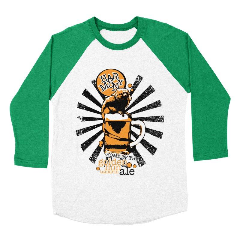 Golden Lion Tamarin Women's Baseball Triblend Longsleeve T-Shirt by Harmony Brewing Company