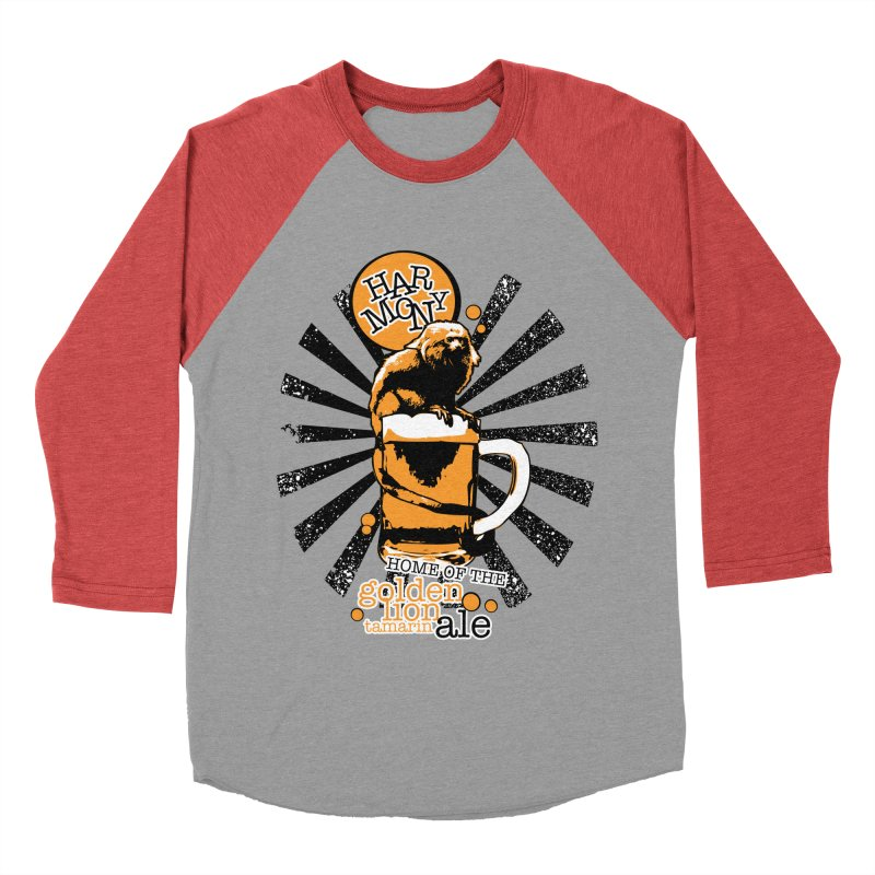 Golden Lion Tamarin Women's Baseball Triblend Longsleeve T-Shirt by Harmony Brewing Company