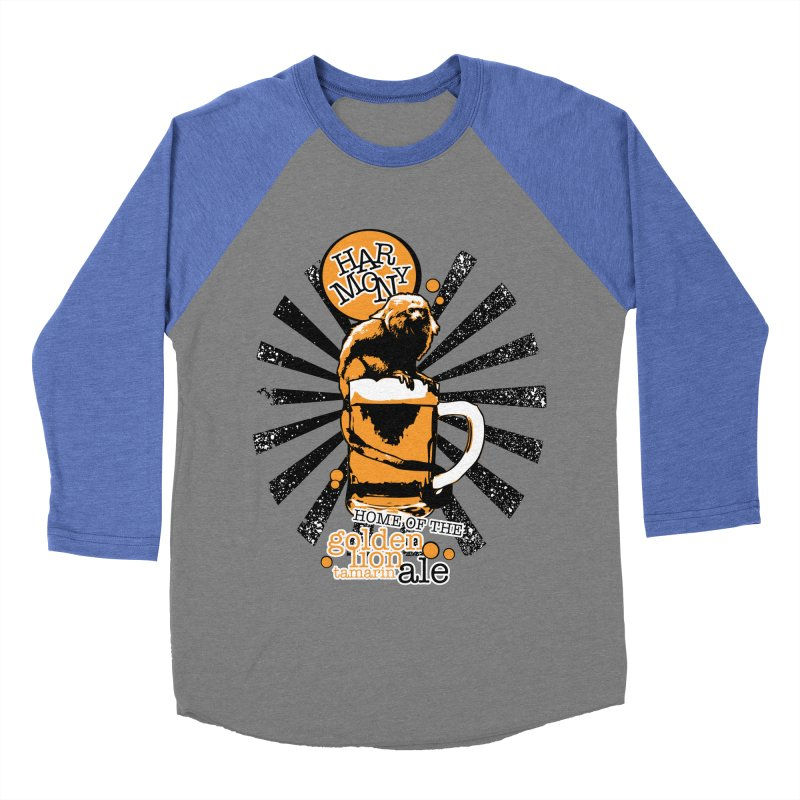 Golden Lion Tamarin Men's Baseball Triblend Longsleeve T-Shirt by Harmony Brewing Company