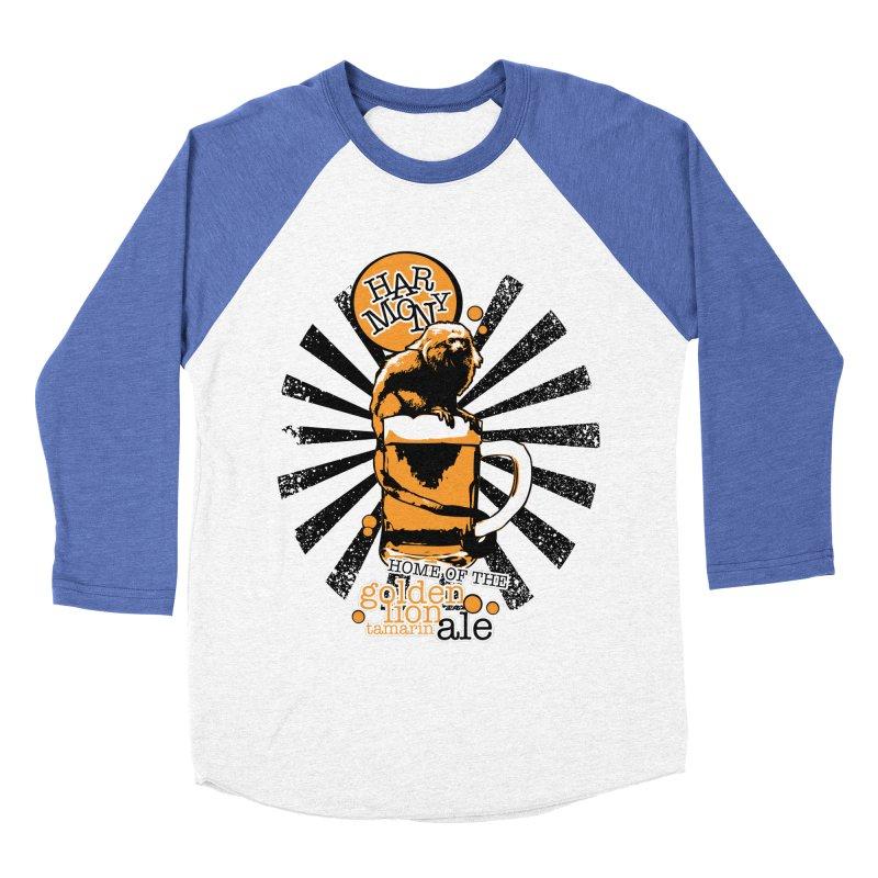 Golden Lion Tamarin Men's Baseball Triblend Longsleeve T-Shirt by Harmony Brewing Company