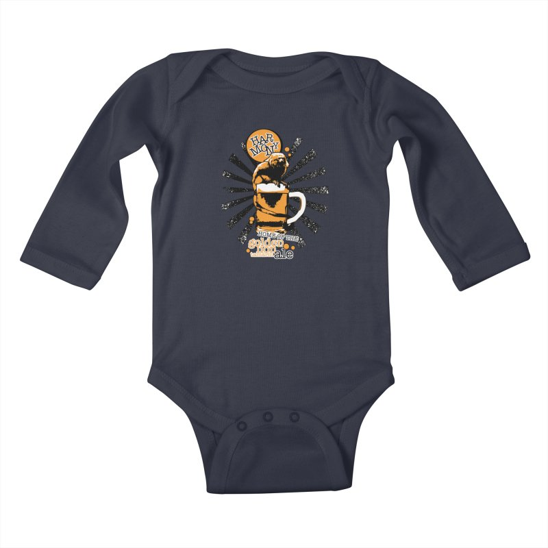 Golden Lion Tamarin Kids Baby Longsleeve Bodysuit by Harmony Brewing Company