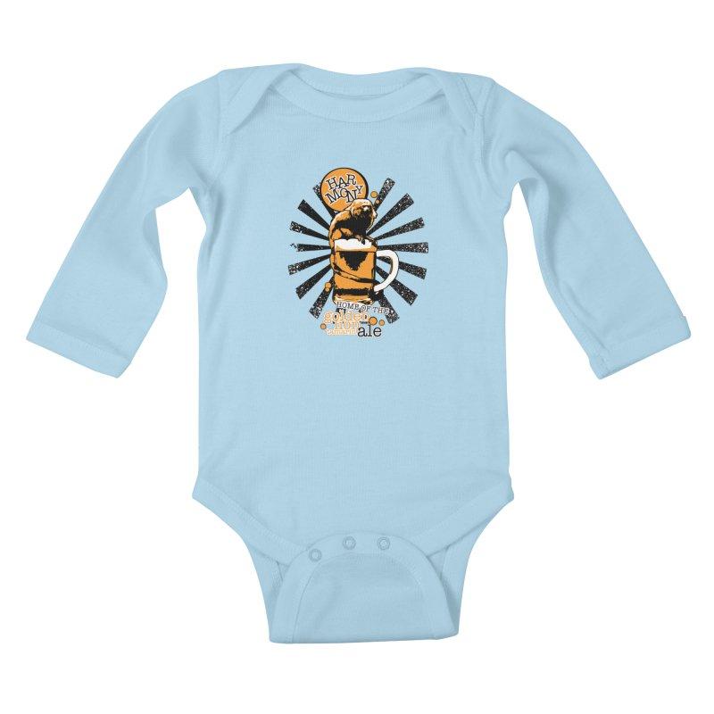 Golden Lion Tamarin Kids Baby Longsleeve Bodysuit by Harmony Brewing Company